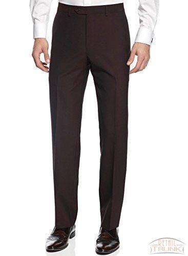 Bar III Wool Blend Slim Fit Dress Pants, Burgundy