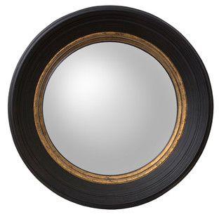 Small Black London Convex Mirror
