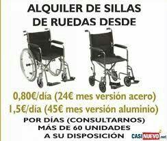 Alquiler Sillas de Ruedas en Madrid   917131188 www.mundodependencia.com