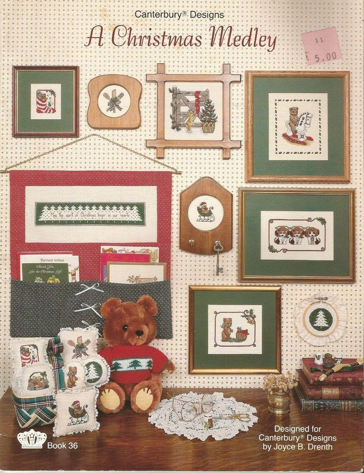 A+Christmas+Medley+Cross+Stitch+Charts+Patterns+Canterbury+Designs