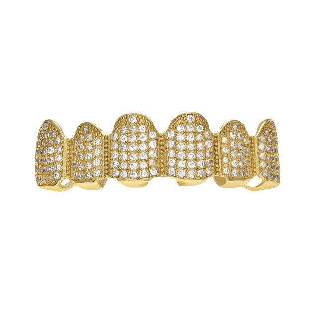 [UPPER] LUXURY GOLD ICED OUT DIAMOND GRILLZ