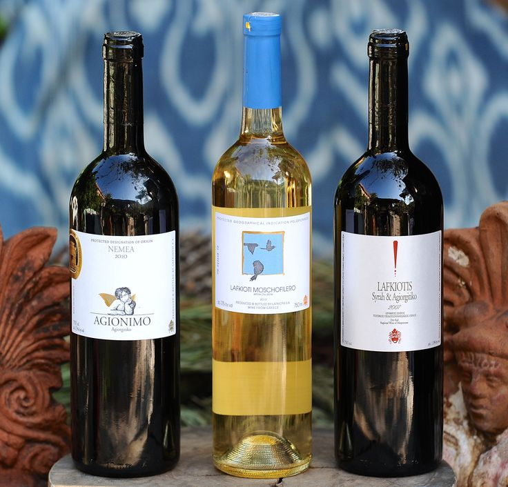 The wines of Lafkiotis Winery from Ancient Kleonai, Nemea, Greece: Agionimo, Moschofilero and Agiorgitiko-Syrah.
