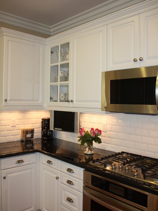 dark cabinets kitchen 17 best ideas about beveled subway tile on all 3088