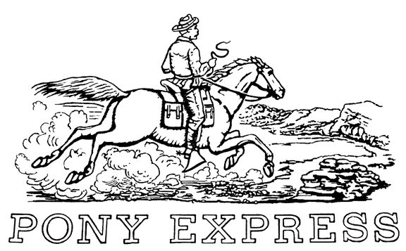 pony express coloring pages free - photo#4