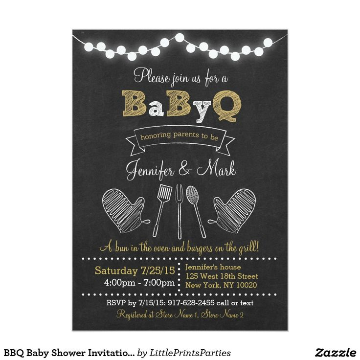 baby shower invitation wording for bringing diapers%0A BBQ Baby Shower Invitations