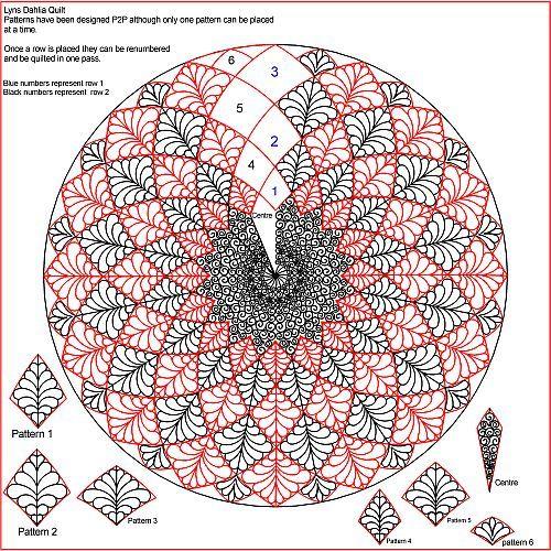 Lyns Dahlia Quilt... great quilting design