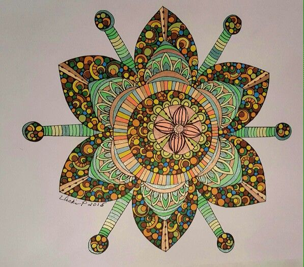 Colored by Vicki Patterson issuing markers/pens. Design by Valentina Harper.