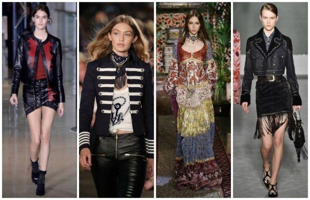 Tendenze dalle fashion week: donna biker, marinaretta, hippy e cowgirl [FOTO]