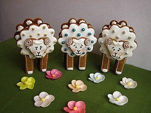 Готовить может каждый! Объемные Пасхальные пряничные барашки. | Ярмарка Мастеров - ручная работа, handmade