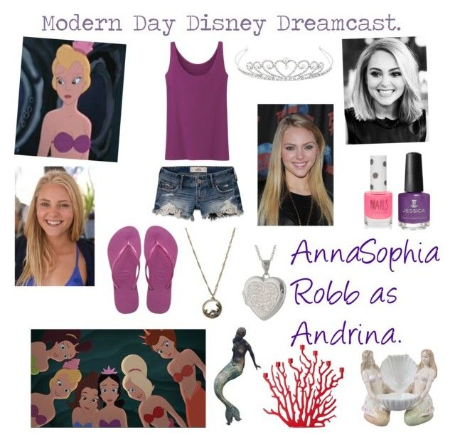 """""""Modern Day Disney Dreamcast:Andrina."""" by iluvepeeta ❤ liked on Polyvore featuring Haute Hippie, Jon Richard, Jessica, Topshop, Uniqlo, Hollister Co., Havaianas, Driade and modern"""