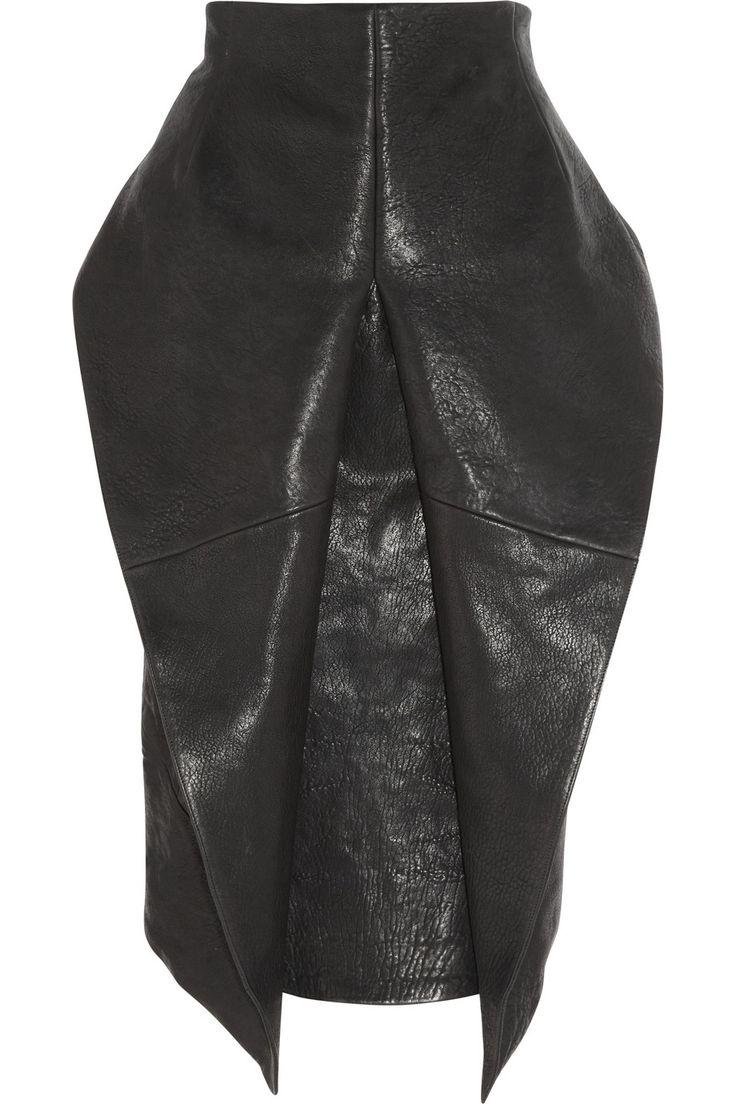 Haider Ackermann | Textured-leather origami skirt | NET-A-PORTER.COM