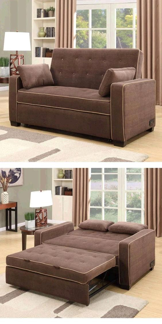 The Westport Fabric Convertible Loveseat in Java is sure to be a favorite in any home. The Westport features 2 power outlets and 2 USB ports which allows you to relax and recharge yourself as well as all of your favorite electronics.