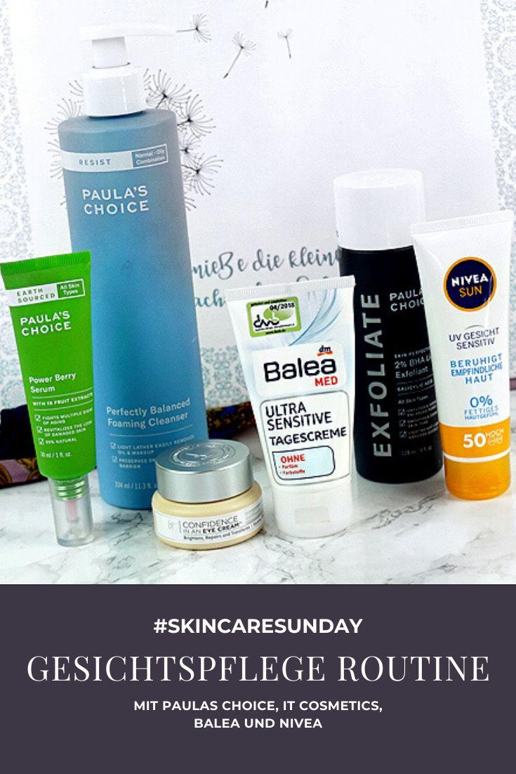 Gesichtspflege Routine mit Paulas Choice it cosmetics