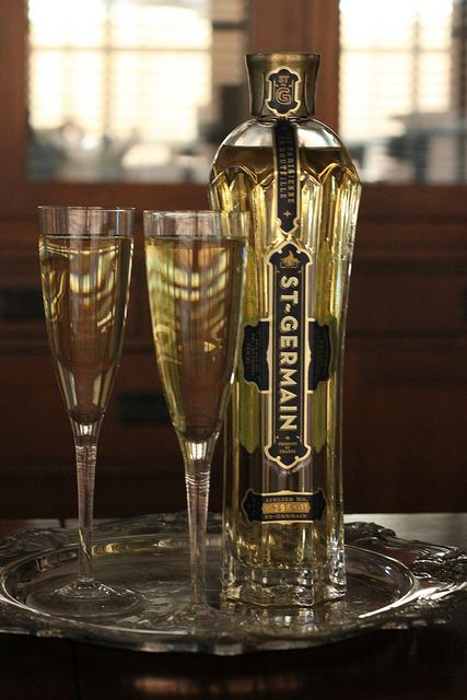 St Germain and champagne - tres French