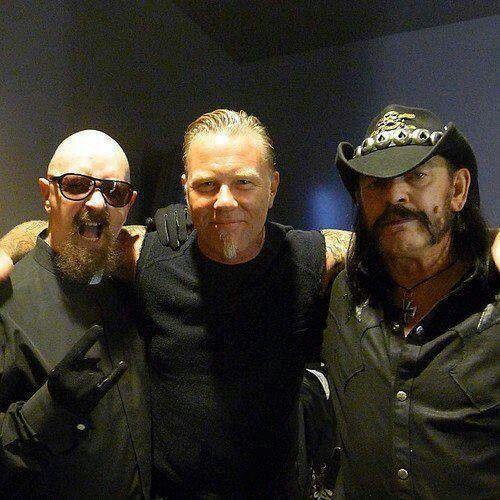 Royalty. Rob Halford, James Hetfield & Lemmy. Legends together... :3
