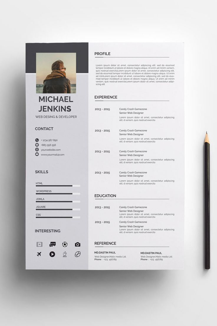 Clean Modern Resume Cv Template To Help You Land That Great Job The Flexible Page Designs Are Easy To Use Modele Cv Modele De Cv Creatif Modele De Cv Design