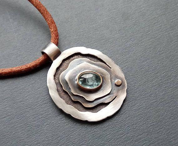 Blue pendant / Boho girlfriend gift / Pendant necklace /