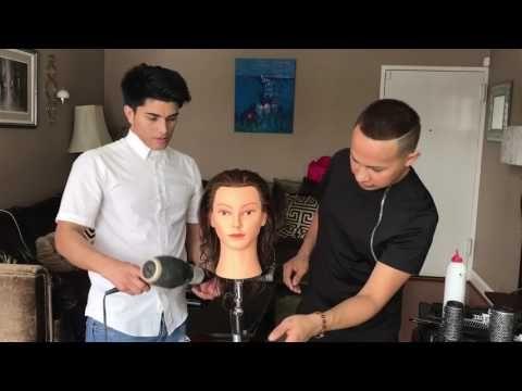 Cómo secar y peinar el cabello Con Mario y Daniel - YouTube
