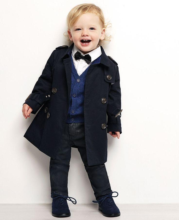 Baby Boy's Romeo Trench Coat - Bardot Junior