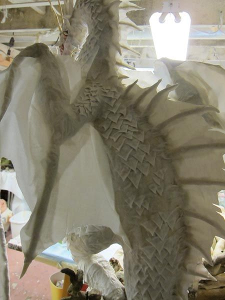 PAPER MACHE BLOG: New Paper Mache Dragon- Head and scales