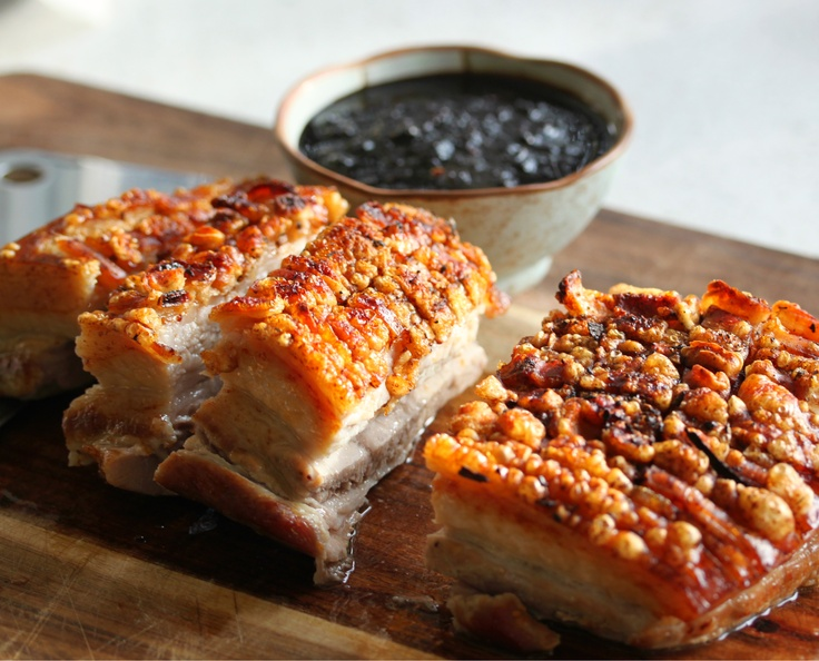 Spicy Festive Pork Belly with dipping sauce
