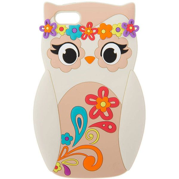 Floral Festival Owl Phone Case - iPhone 5C, Phone & iPod Cases, Phone... ($4.26) ❤ liked on Polyvore featuring accessories et tech accessories