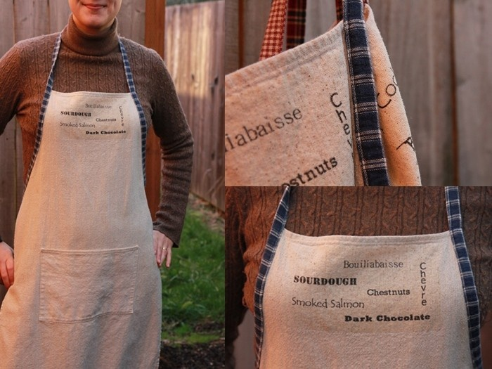 personalized aprons with iron transfer food likes and dislikes