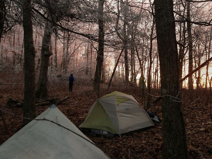 Camping  on the Appalachian Trail in northeast Georgia. Photo by Tom Stone.