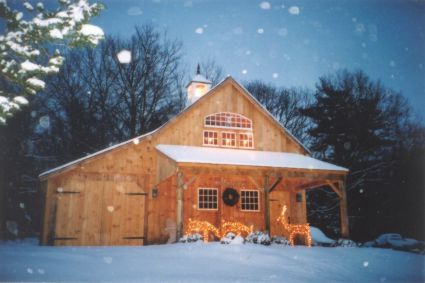 New England Style Barns Exterior Of One Amp A Half Story