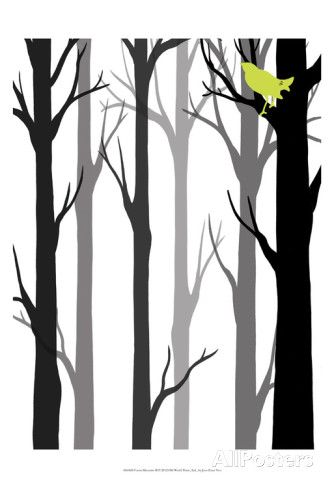 Forest Silhouette II Prints by Erica J. Vess at AllPosters.com