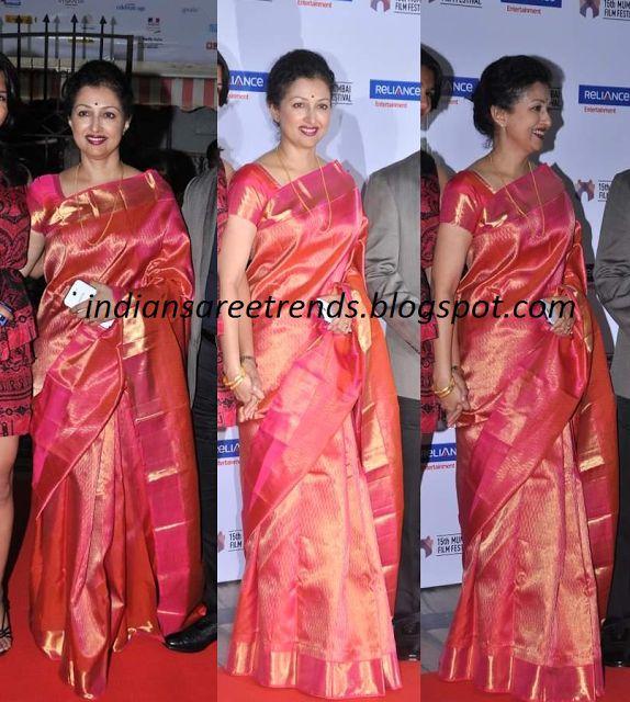 Latest Traditional and Designer Sarees: Gouthami Pink Kanjivaram Saree