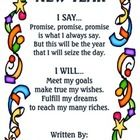 Display this New Year's Poem on your bulletin board to help support your students new year's goals. Print on 8.5 by 14 paper and enjoy!  New Year P...