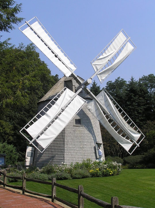 Old East Windmill, built in 1800 in Orleans, MA, moved in 1968  Heritage Museums & Gardens  Sandwich, MA