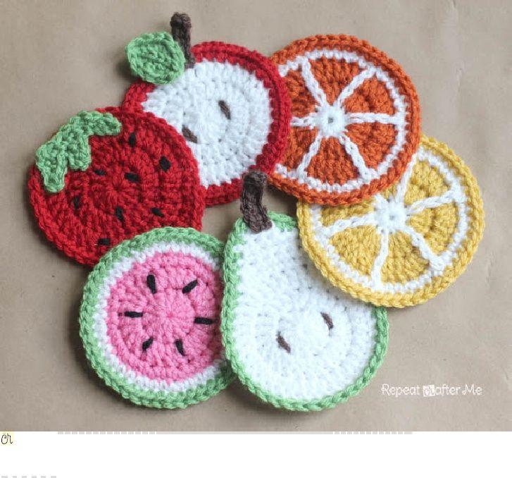 Crochet_Fruit_Coasters_Pattern.pdf free crochet pattern