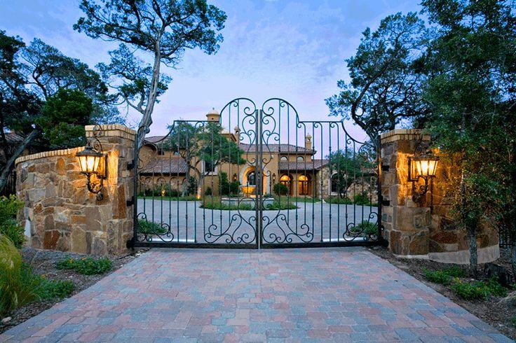 Iron Gates: Wrought Iron Gate,  Driveway & Entrance