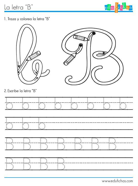 Fichas para aprender las letras del abecedario la letra b - Literas divertidas para ninos ...