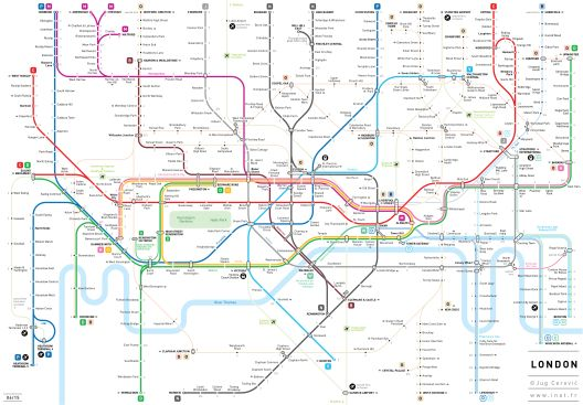 easier to understand london underground tube map