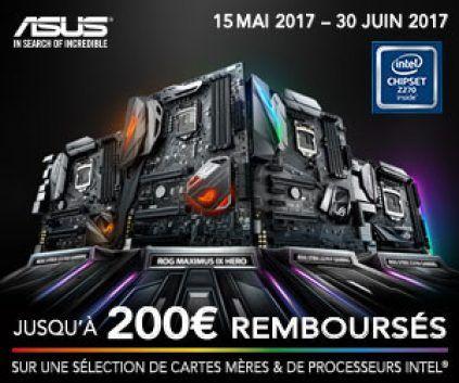 Asus : Plus de 100€ de remise pour l'achat d'une carte mère Z270/270 et d'un processeur intel i5/i7 k (Config-Gamer)