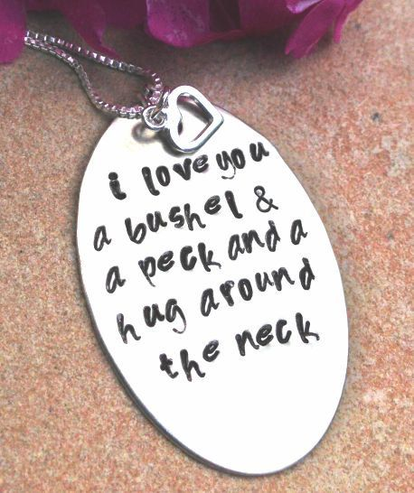 I Love You A Bushel And A Peck Necklace: 1000+ Ideas About Mother Daughter Jewelry On Pinterest