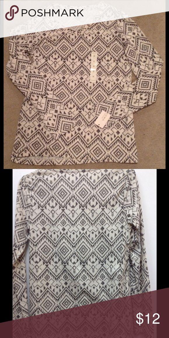 Sonoma Aztec Long Sleeve Top✨ Brand new long sleeve top. Sonoma Tops Tees - Long Sleeve