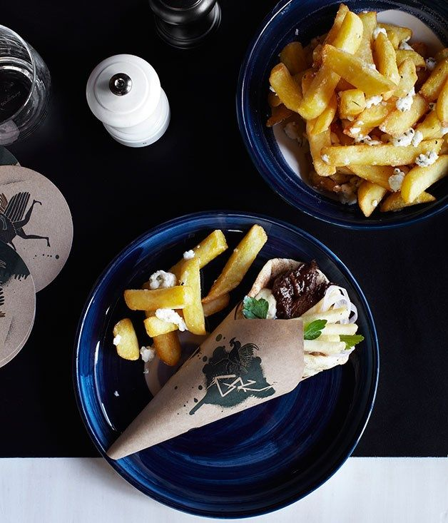 Australian Gourmet Traveller recipe for fat chips with feta.