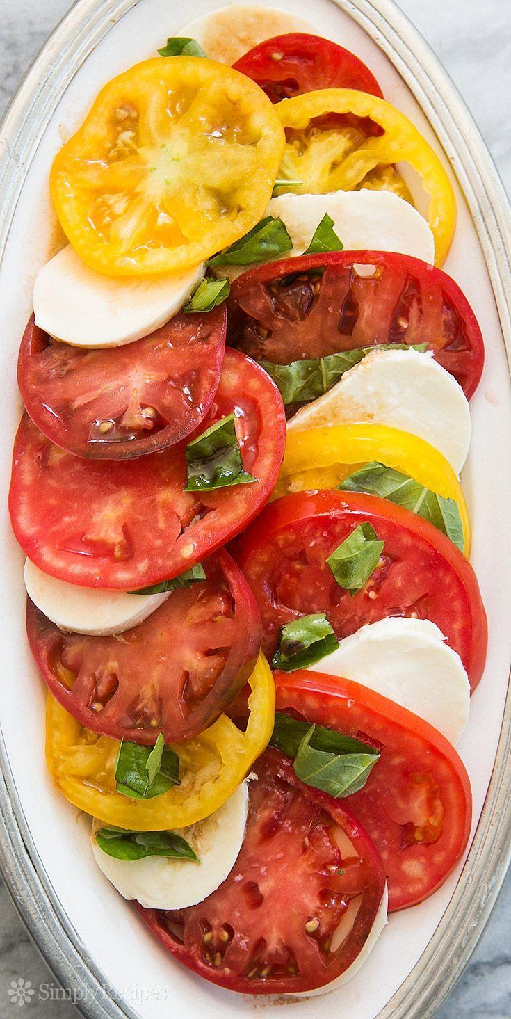 Heirloom Tomato Basil Mozzarella Salad: heirloom tomato, basil, mozzarella salad made with beautiful, ripe heirloom tomatoes - classic italian caprese salad recipe.