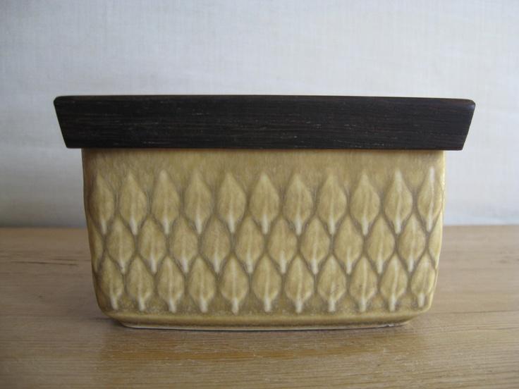 Quistgaard - RELIEF - butter dish - wooden lid - Wengé - Kronjyden - midcentury. kr300.00, via Etsy.