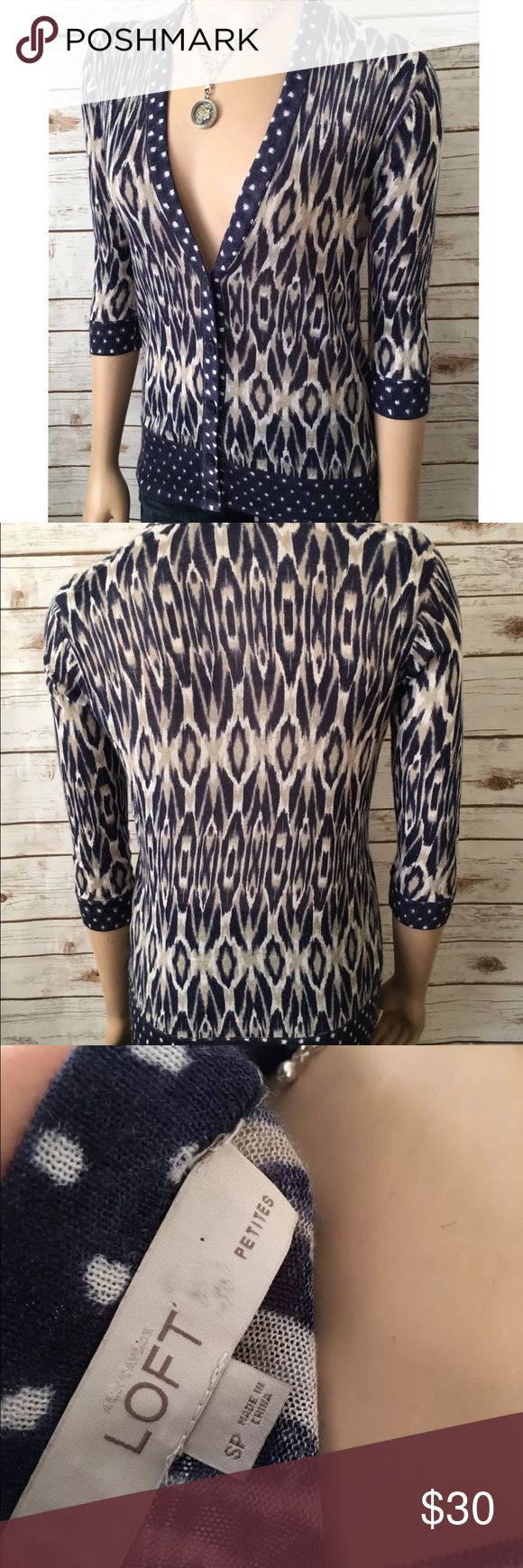 Ann Taylor Loft Petites Cardigan Button Front Very pretty, great used condition. Always open to reasonable offers! LOFT Sweaters Cardigans