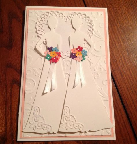 Handmade Wedding Card Lesbian Same Sex Stampin Up Look | eBay