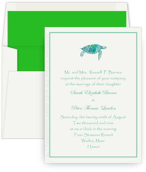 Sea Turtle Wedding Invitations: 13 Best Sea Turtle Wedding Ideas Images On Pinterest