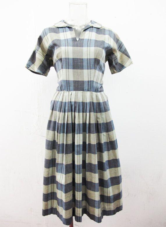 Etsy の 1950 年代レグロン格子縞のドレス サークル スカート by ExileVintage