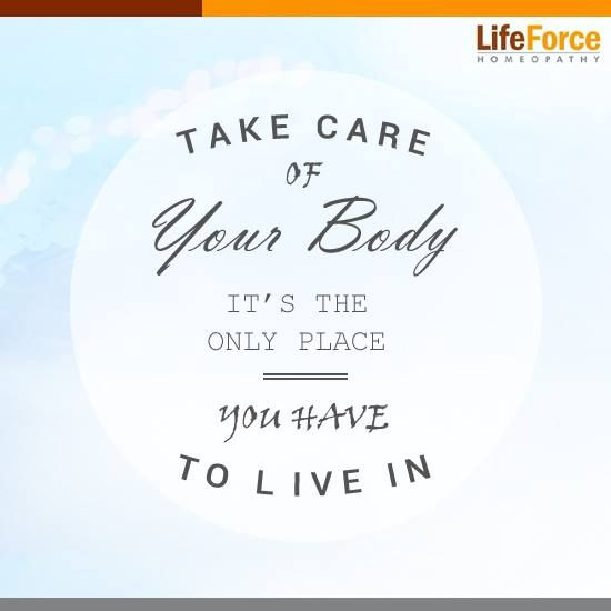 Don't take care of your Body and your body will do the same to you.