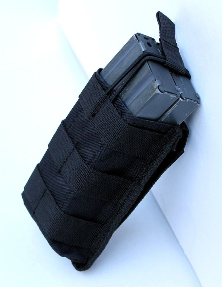 Single Open Top Mag Pouch Mag Holder with MOLLE Strap