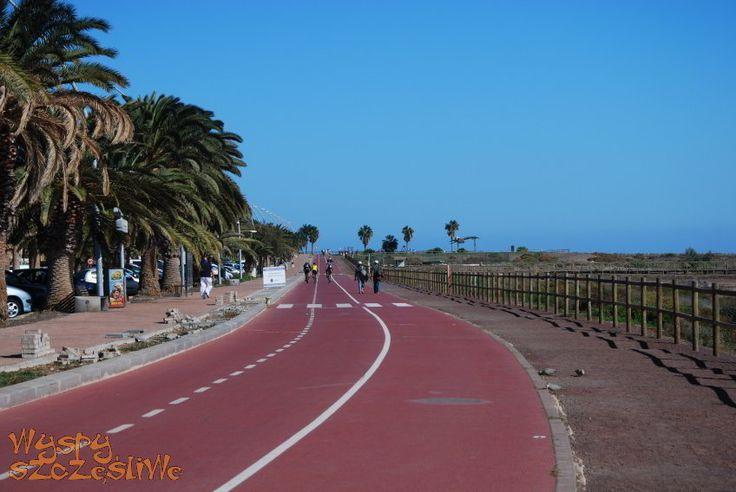 Ścieżka rowerowa w Morro Jable